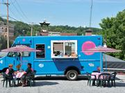 The Lunch Brake food truck is parked on Bath Street in Ballston Spa.