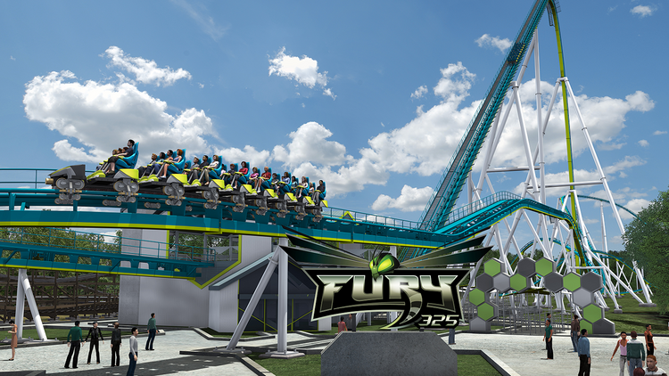 Carowinds calls Fury 325 the world's tallest and fastest giga coaster.