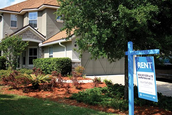 6209 Devonhurst Drive, off Greenland Road in Jacksonville. Blackstone Group subsidiary  Invitation Homes acquired it for $203,000 and is renting it for $1,800 a month.