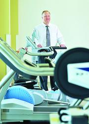 David Shefte, CEO of HealthSouth Rehabilitation Hospital of Denver, in a therapy room.