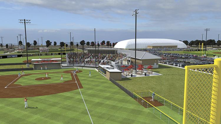 The $18 million Louisville Slugger Sports Complex in Peoria, Ill., will have 10 outdoor baseball and softball fields, plus a 125,000-square-foot indoor dome.
