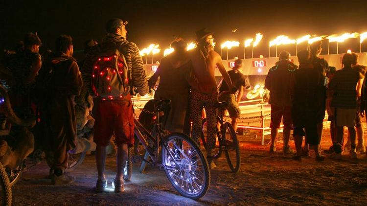 Silicon Valley tech wealth that descends on Burning Man may be missing out on one of the best parts of the arts event: Radical self-reliance. Here, a scene from last year.