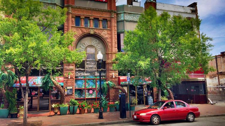 The Latin Palace at 509 S. Broadway has been put up for sale by the building's owner.