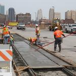 KC streetcar construction: Work begins crossing train trench