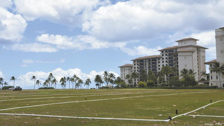 "This empty field next to the Ko Olina Beach Villas Resort is one of four vacant parcels along the lagoons at Ko Olina Resort, and also where the ""Arashi Blast in Hawaii"" is scheduled to be held."