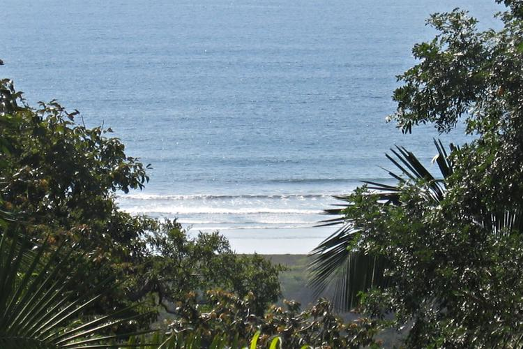 The Pacific Ocean is viewed from a rented beach house overlooking Playa Guiones, Nosara, Costa Rica, which is located between Nicaragua and Panama.
