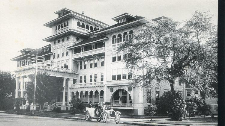 The Moana Surfrider Hotel, seen here in 1920, is still an operational hotel today under Starwood Hotels & Resorts' Westin brand. The Historic Hawaii Foundation is organizing a forum to bring tourism professionals and historic site stewards to network and learn about heritage tourism.