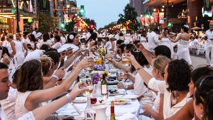 A toast to Diner en Blanc.