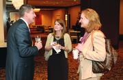 Michael Pointer of Bowman Consulting and Tracie Gliozzi, center, and Kerstin Schuler of Buchanan Ingersoll & Rooney PC.