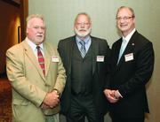 "Rick Price, left, of Pittsburgh Clean Cities,  Robert Beatty, center, of ""O"" Ring CNG Fuel Systems, L.P., and Scott Swartzfager of National Fuel."