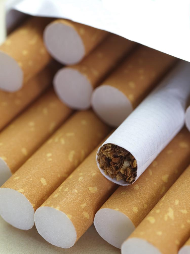 Cigarettes with a brown filter close - up