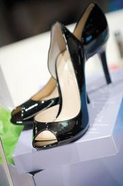 Shoes served as the centerpieces for tables at Women's Summit