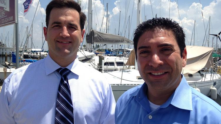 PitPay Co-founders Stephen Pair and Tony Gallippi in downtown St. Pete.