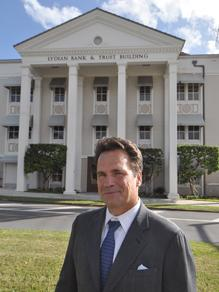 Rory Brown was the president and CEO of Lydian Private Bank before it failed.