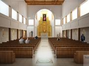 The Chapel will be located at the center of the new Catholic high school. Natural light flowing into the chapel will create a spiritual feeling in the space.