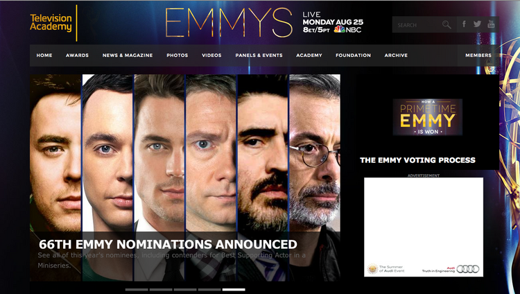 For the second year, web design firm Dsire of Santa Fe will be behind the scenes at the Television Academy's Emmy Awards, which will be broadcast on Monday night.