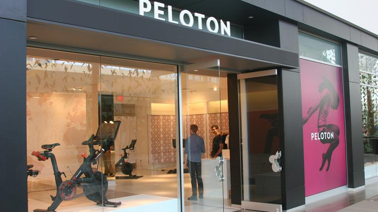 Peloton opened a store at the Natick Mall last month.