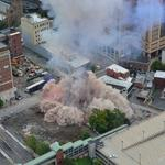 Downtown Albany building implodes (Video)