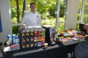 Kevin Alves of Mars Drinks has plenty of hot drinks and candies for guests to enjoy.