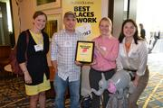 From The Motley Fool, No. 4 on the list of large companies, Annie Healy, from left, Nate McMahon, Samantha Cicotello, and Anessa Fike.