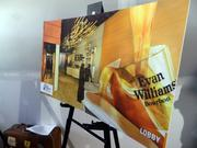 A poster showed the design for the lobby of the Evan Williams Bourbon Experience. Heaven Hill officials expect the attraction to draw 100,000 visitors annually.