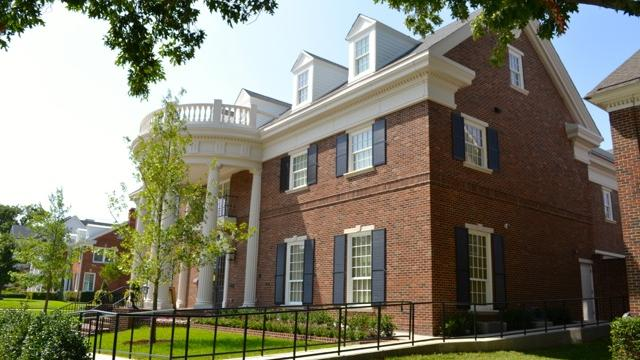 The new Georgian-style Chi Omega sorority house on Southern Methodist University gives the group the ability to keep up with its expanding membership.