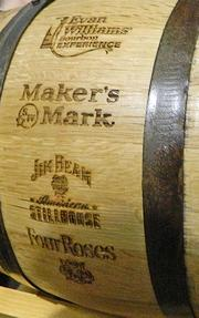The Kentucky Bourbon Trail was founded in 1999 and currently has seven distilleries across Kentucky. Several are shown on this barrel presented to Louisville Mayor Greg Fischer.