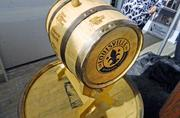 Louisville Mayor Greg Fischer was presented a barrel with bourbons from all eight distilleries on the Kentucky Bourbon trail. Fischer said he also has several bourbons in his office that have been sent to him by distilleries.