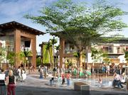 This rendering shows the center court area for The Gathering Place in Kapolei.