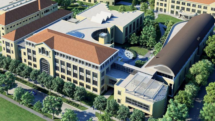 A rendering of the Neeley School of Business after a $100 million expansion and renovation.