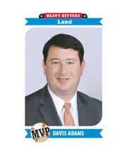 Davis Adams, managing director at HFF LP, was the top land rep with $103 million.