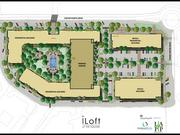 The site plan for iLoft at The Square shows three residential buildings, one with ground floor retail, and an office building.