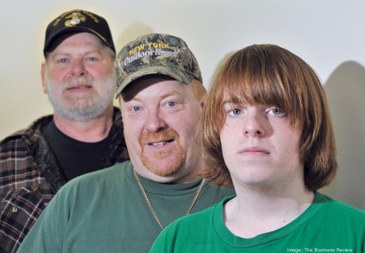 Remington men (from left), Steve Brown: 17 years as a machine operator; 	Rusty Brown: furnace technician, past union president; Jonathon Brown: senior at Ilion High School