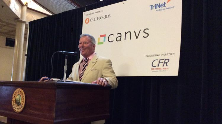 Orlando Mayor Buddy Dyer said Canvs is helping to fill a building that's been too-long vacant in downtown Orlando.