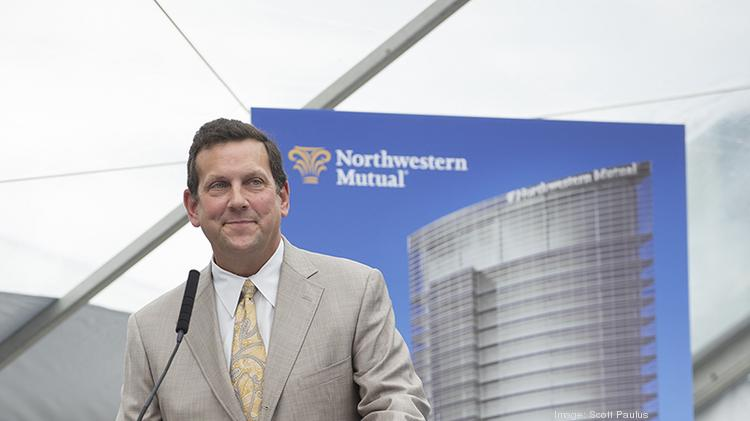 Northwestern Mutual chairman and CEO John Schlifske speaks at the groundbreaking ceremony for the company's new office tower Tuesday.
