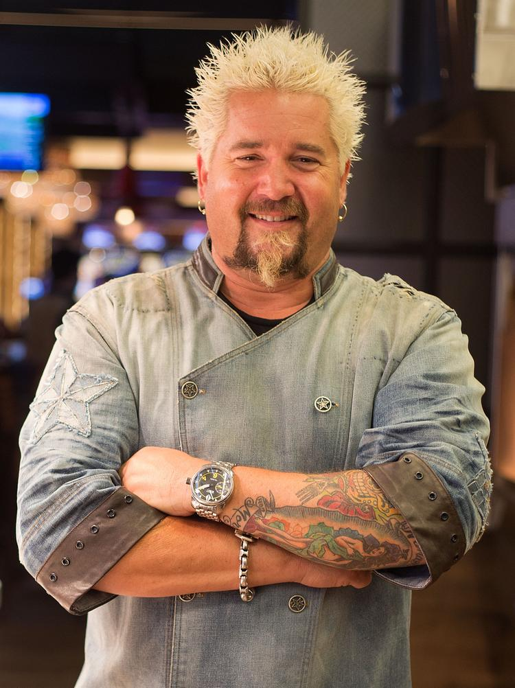 Guy Fieri Of Food Networks Diners Drive Ins And Dives Visits