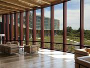 """Streamsong calls it's main entryway the """"Leaf Lobby."""" It has a sweeping view of the property."""