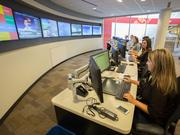 Social customer care representatives monitor social media activity for Southwest Airlines.