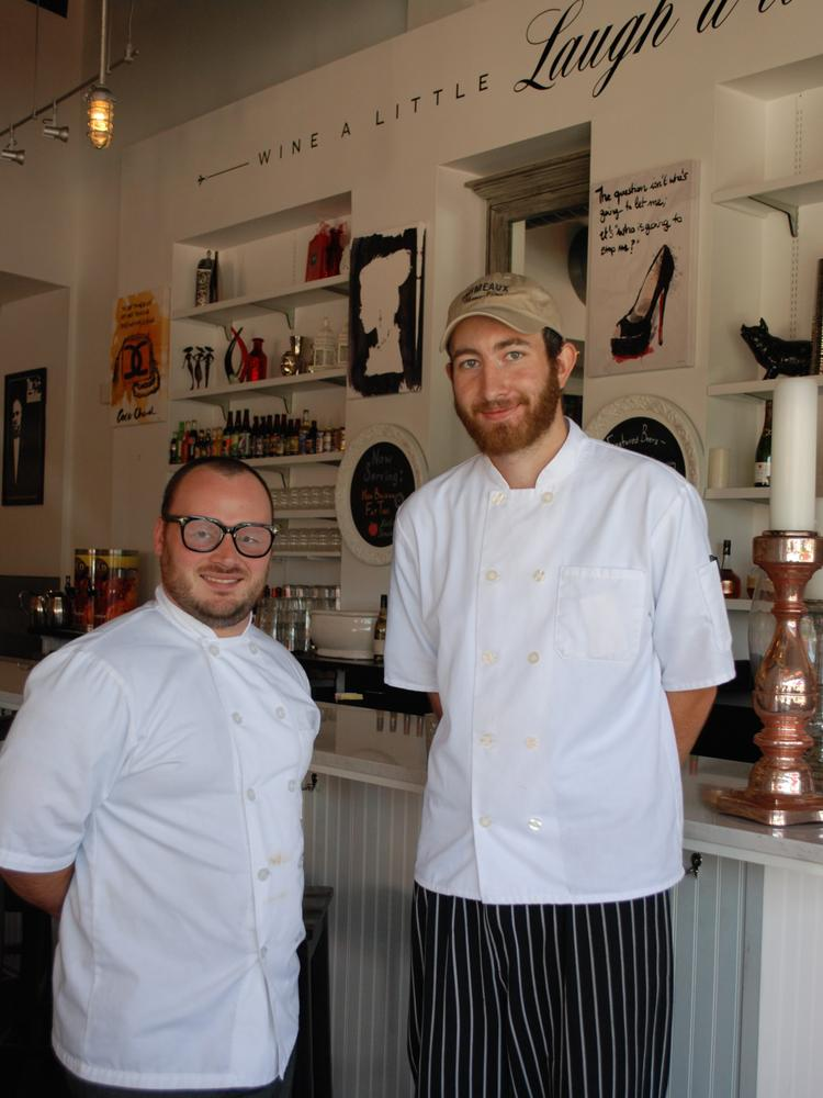 Cory Bolton (left) and Ric Trent join Primeaux Cheese & Vino, Bolton as sous chef and Trent as head chef.