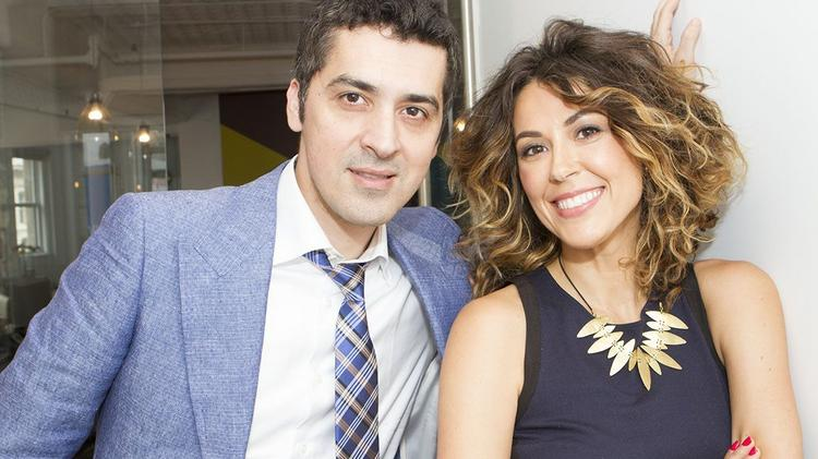 Influenster CEO Aydin Acar and President Elizabeth Scherle, both cofounders.