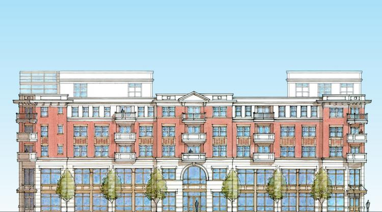 A proposed building will bring 200 apartments and 23,320 square feet of Class A office space to Worthington.