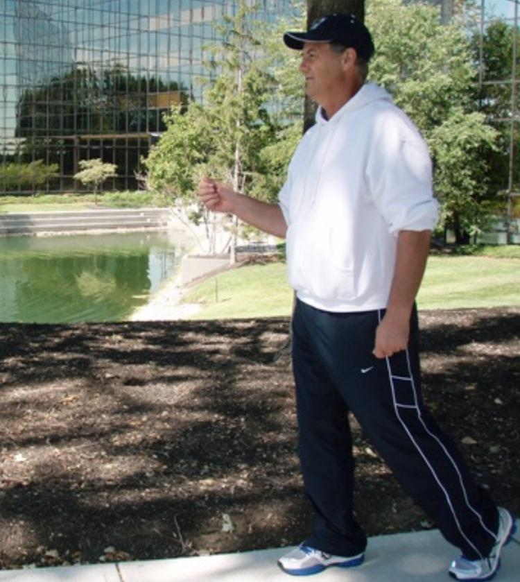 Dennis Clifton, Duke Realty senior operations manager in Cincinnati, set out to take 1 million steps in one month with the goal of raising money to find a cure for a rare congenital condition called HPE that affects his granddaughter. On Aug. 31, 2011, he officially logged 1,007,000 steps.