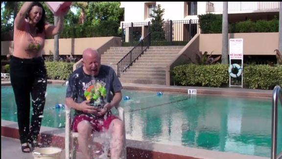 Terry Brock taking the ALS Ice Bucket Challenge