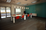 A conference room at Ruby Receptionists' Beaverton offices.