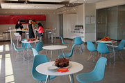 The break room at Ruby Receptionists new offices in Beaverton.