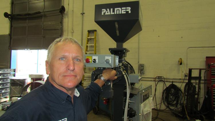 Jack Palmer is president of Palmer Manufacturing & Supply Inc., which makes heavy-duty no-bake foundry equipment.
