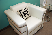 """""""R"""" is for Ruby at Ruby Receptionists' new Beaverton offices, which opened Thursday."""