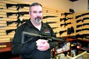 Ryan Pennock, owner of Thunderbird Tactical, sells AR-15 rifles, at prices ranging from $700 to $4,000. But getting his stock replaced has been challenging, he says, and orders take longer to fill.