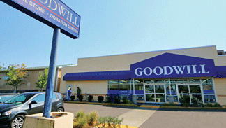 The Goodwill store at 3134 N. Lombard St. has been put on the market as a single-tenant property.