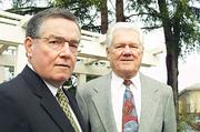 Jack Hounslow (right) and Jim Mayer have joined the board of Oakland-based Community Bank of the Bay.